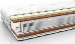 Пример ортопедического матраса с 2000 пружин на спальное место.