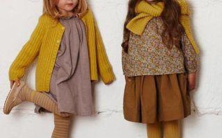 Детская осенняя мода